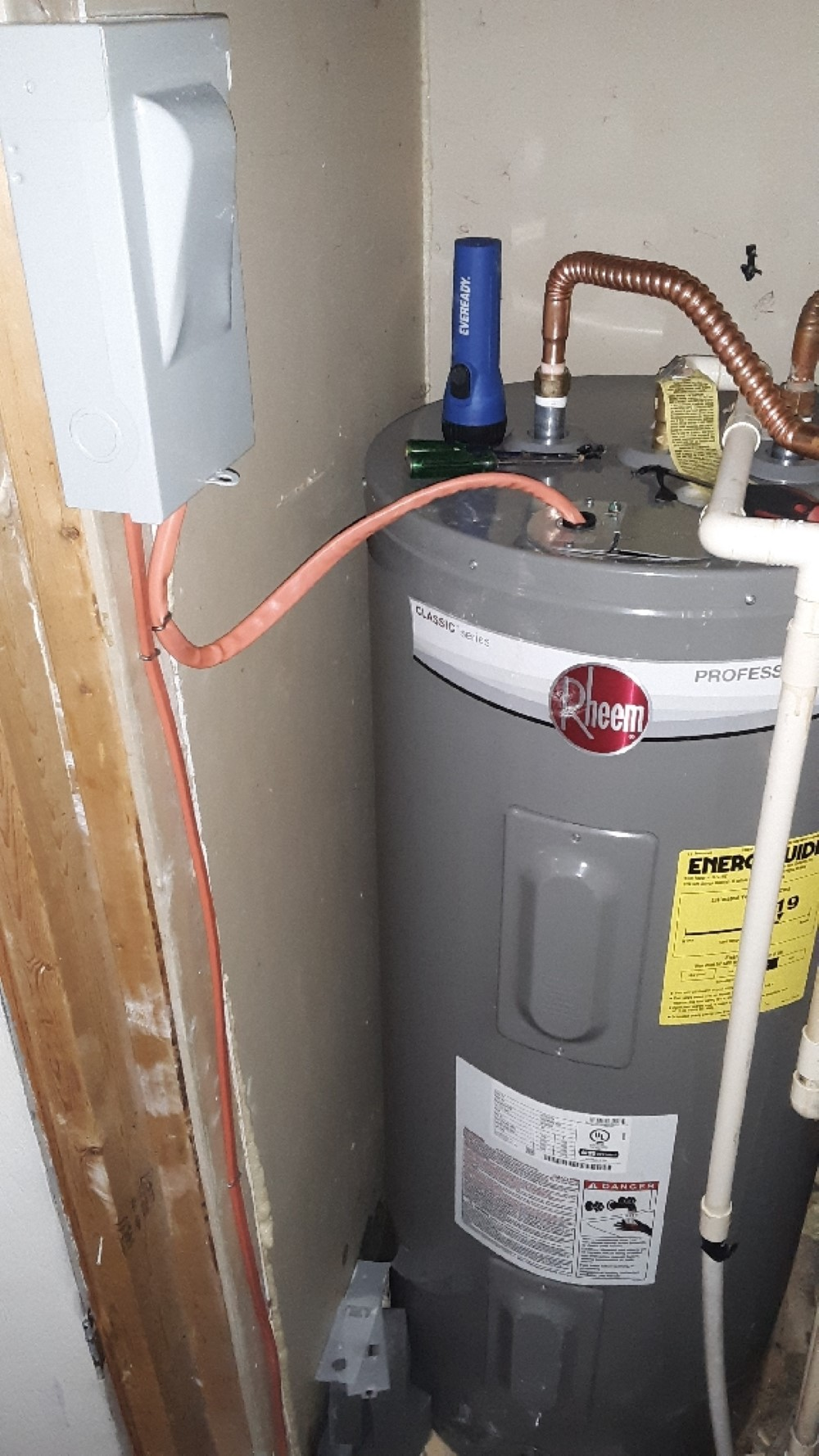 Water Heater New Circuit